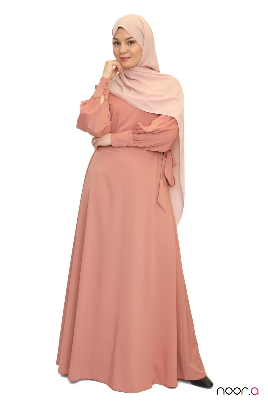 abaya-anika-rose-hijab-soie-de-medine-rose (3)