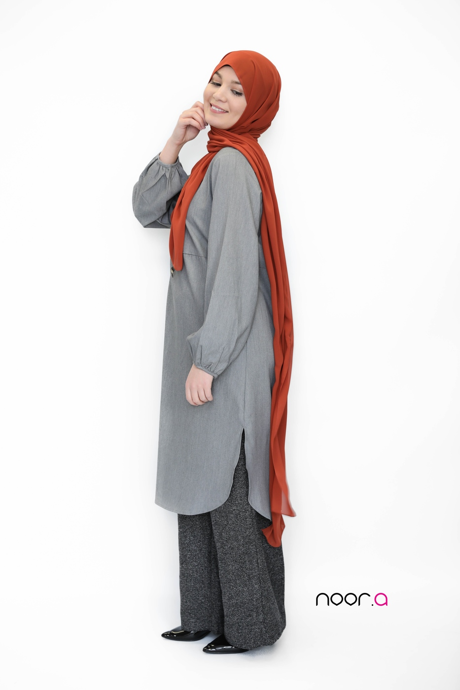 hijab-crêpe-luxe-turquie-rouille-palazzo-hiver-tunique-longue-pour-hijab