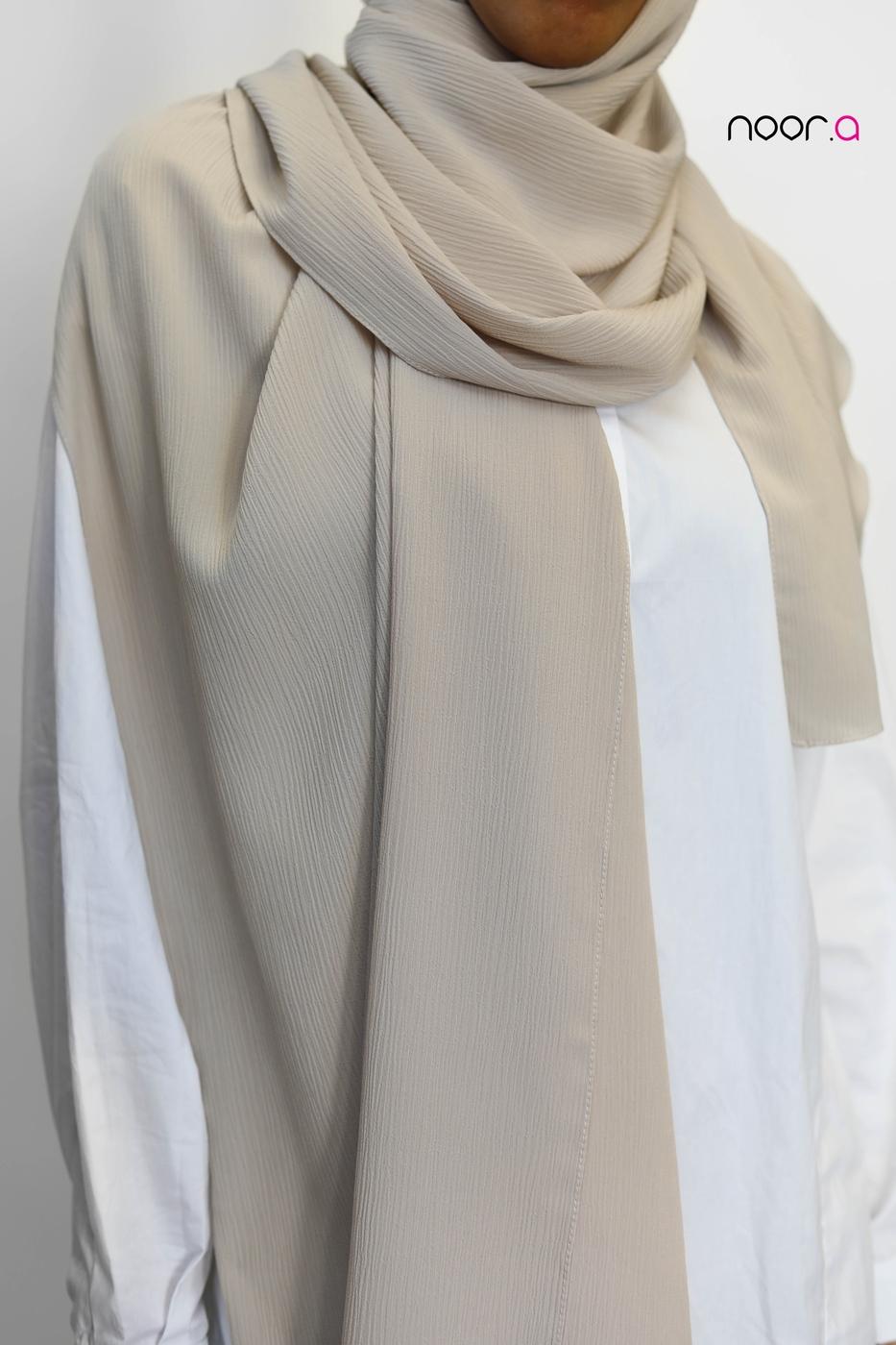 hijab-soie-de-medine-plissé-écru