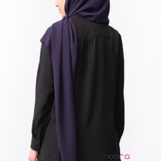 Hijab maxi carré mousseline couleur aubergine
