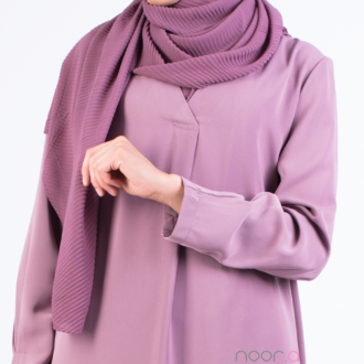 HIjab plissé mousseline violet