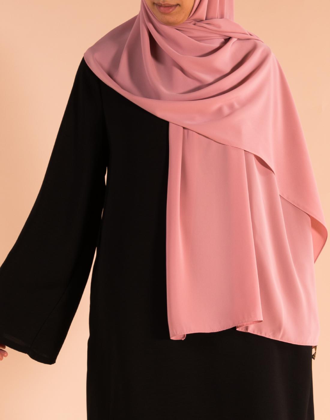 hijab_soie_de_Medine_rose2