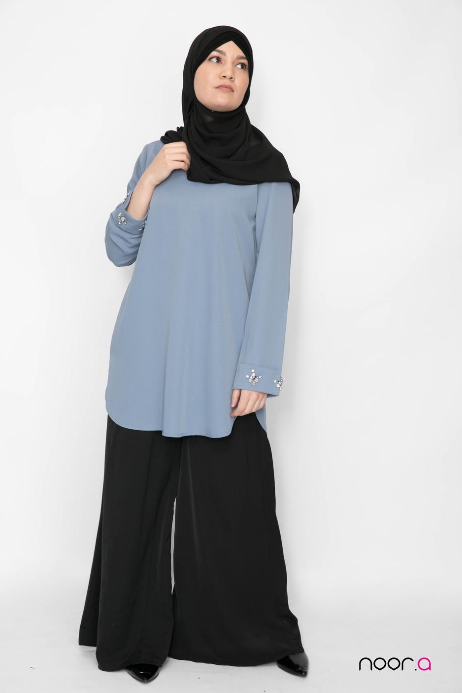 pantalon-large-pour-hijab-noir-fluide-tunique-bijoux-bleu-acier-hijab-mousseline-de-luxe-noir (5)