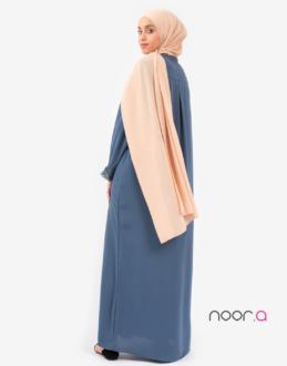 Hijab plissé beige en mousseline