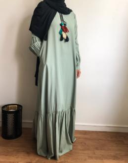 Robe / abaya à pompons Ely