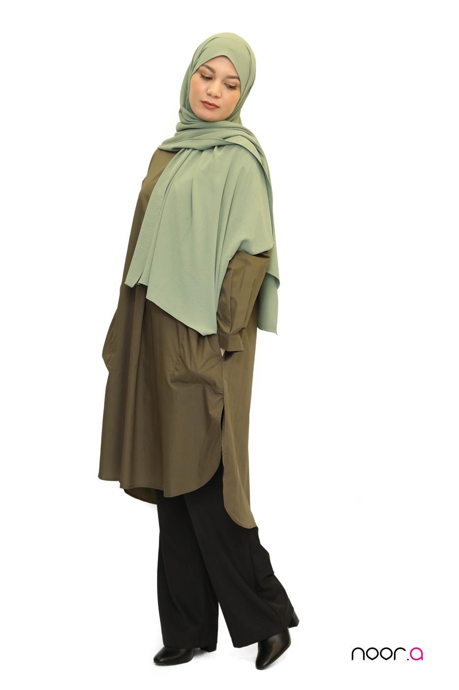 tunique-longue-coton-kaki-hijab-jazz-vert (5)