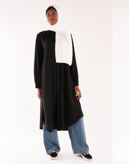 Tunique longue noire Chadene